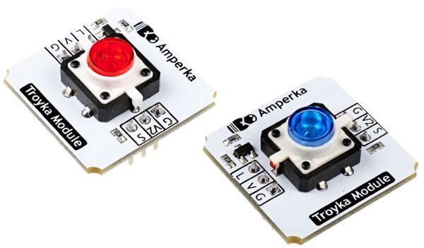 Кнопка со светодиодом (Troyka-модуль)